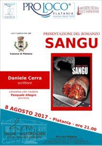 """Presentazione libro """"Sangu"""" di Daniele Cerra"""
